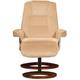 Caplin Microfiber Reclining Chair and Ottoman