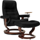 Stressless Opal Medium Leather Reclining Chair and Ottoman w/ Swing Table
