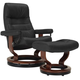 Stressless Opal Medium Leather Reclining Chair And Ottoman W/ Rings