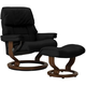 Stressless Ruby Large Leather Reclining Chair and Ottoman