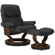 Stressless Ruby Large Leather Reclining Chair and Ottoman w/ Rings