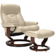 Stressless Senator Large Leather Reclining Chair And Ottoman