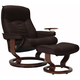 Stressless Senator Large Reclining Chair & Ottoman w/ Swing Table