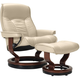 Stressless Senator Large Leather Reclining Chair And Ottoman W/ Rings