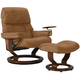 Stressless Ruby Large Leather Reclining Chair and Ottoman w/ Swing Table