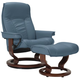 Stressless Senator Medium Leather Reclining Chair And Ottoman