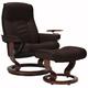 Stressless Senator Medium Reclining Chair and Ottoman w/ Swing Table