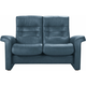Stressless Sapphire Leather Reclining Loveseat