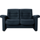 Stressless Sapphire Leather Reclining Low-Back Loveseat