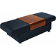 Stressless Sapphire Leather Storage Ottoman w/ Table