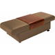 Stressless Sapphire Leather Storage Ottoman w/ Table