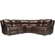 Bryant II 6-pc. Leather Power-Reclining Sectional Sofa