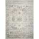 Malta Ivory and Blue Area Rug, 5'3 x 7'7
