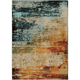 Quinn Blue and Red Area Rug, 6'7 x 9'6