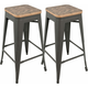 Oregon Bar Stool: Set of 2