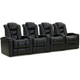 Marcus 4-pc. Leather Power-reclining Sectional Sofa