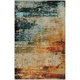 Quinn Blue and Red Area Rug, 7'10 x 10'10