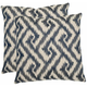 Teddy Geometric Pillow: Set of 2