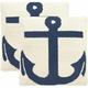 Ahoy Indoor Outdoor Pillow: Set of 2