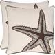 Lucky Coastal Star Pillow: Set of 2