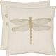 Azure Coastal Damselfly Pillow: Set of 2