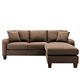 Cindy Crawford Home Bailey Microfiber Chaise Sofa