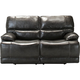 Wallace Leather Power-Reclining Loveseat