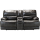 Wallace Leather Power Console Loveseat