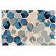Felix Blue and Gray Area Rug, 8' x 10'