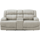 Quincey Power-Reclining Console Loveseat