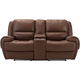 Colvin Leather Power-Reclining Console Loveseat