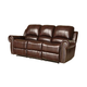 Abbyson Living Dover Leather Reclining Sofa Burgundy