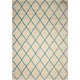 Brisbane Ivory and Aqua Area Rug, 5' x 7'