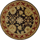 Jaipur Black Area Rug, 8' Round