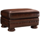 Foster Leather Ottoman