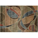 Expressions Multicolored Abstract Area Rug, 5'3 x 7'5