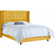 Cranford Queen Nail Button Tufted Wingback Bed