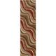 Solar Multicolored Kaleidoscope Runner Rug, 2'3 x 8'