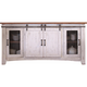 Pueblo White TV Stand w/4 Doors
