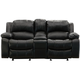 Bryant Ii 3 Pc Leather Reclining Loveseat Black