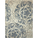 Maxell Ivory and Blue Area Rug, 7'10 x 10'6