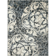 Maxell Ivory and Charcoal Area Rug, 5'3 x 7'3