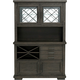 Halloway 2-pc. China Cabinet w/ Lighting and Wine Storage