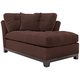 Cindy Crawford Home Metropolis Microfiber Right-Arm-Facing Chaise Lounge