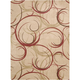 Mirage Cream Scroll Area Rug, 7'9 x 10'10
