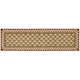 Vallencierre Camel Diamond Runner Rug, 2'3 x 8'