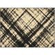 Coakley Black and Cream Area Rug, 5'3 x 7'3