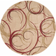 Mirage Scroll 6' Round Area Rug
