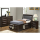 Marilla 4-pc. Twin Upholstered Captain's Bedroom Set
