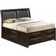 Marilla Full Upholstered Captain's Bed